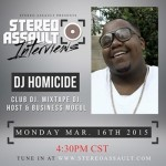 Interview: Dj Homicide on Stereo Assault Radio